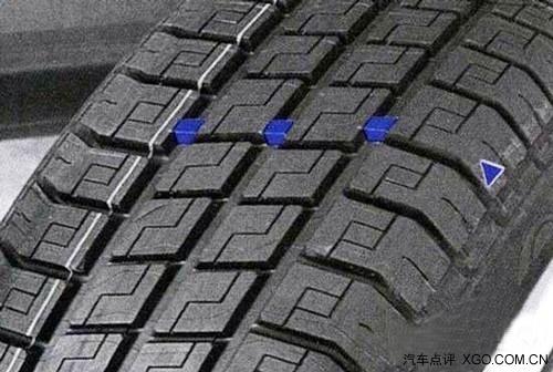 轿车用的子午线轮胎花纹磨损极限