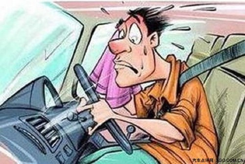 开车累晕可爱图片